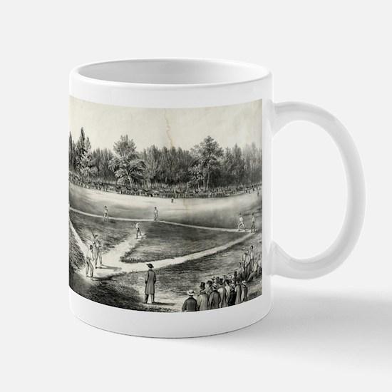 The American national game of base ball - 1866 Mug