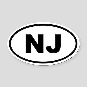 New Jersey NJ Oval Car Magnet