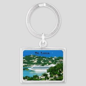 Cruise Ship Landscape Keychain