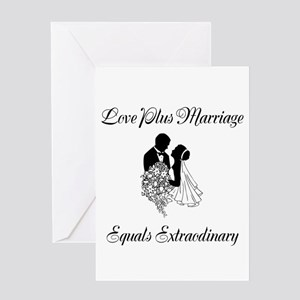 Love Plus Marriage Equals Extraodinary Greeting Ca