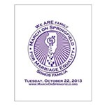 March on Springfield Purple Main Logo Posters