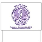 March on Springfield Purple Main Logo Yard Sign