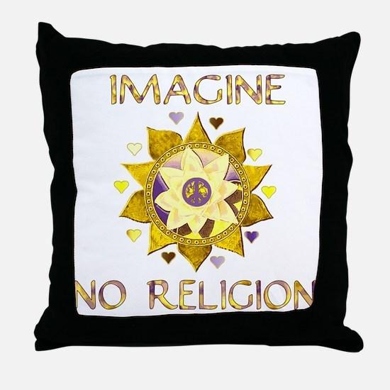 Imagine No Religion Throw Pillow