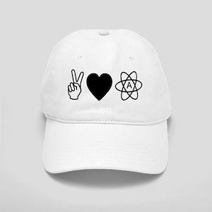Peace Love Atheism Cap