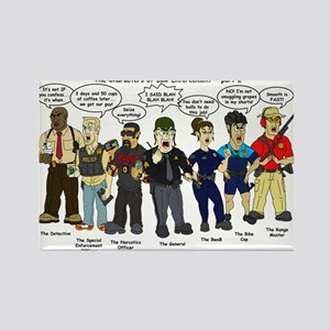 Characters of Law Enforcement 2 Rectangle Magnet