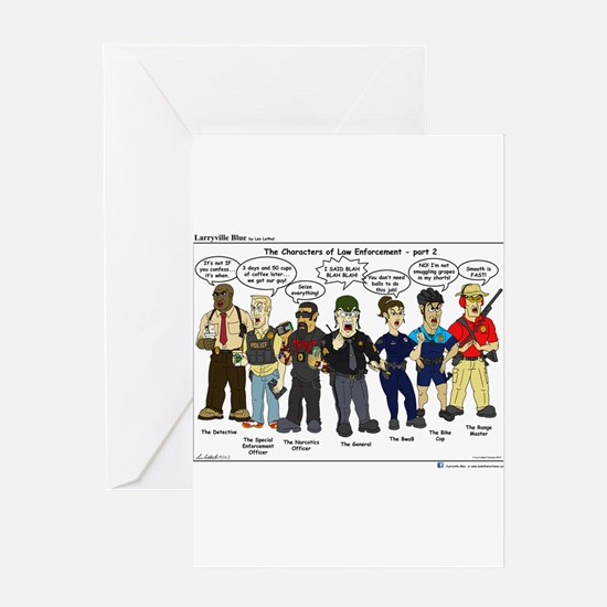 Characters of Law Enforcement 2 Greeting Card