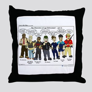 Characters of Law Enforcement 2 Throw Pillow