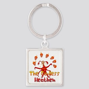 The Godless Heathen Square Keychain