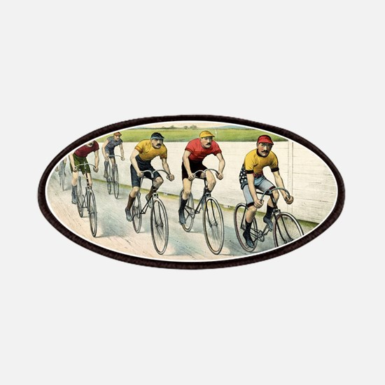 Wheelmen in a red hot finish - 1894 Patch