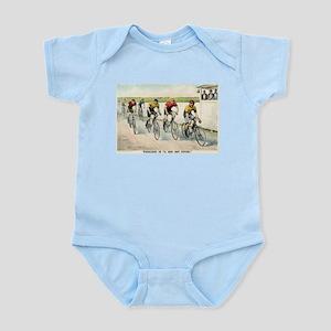 Wheelmen in a red hot finish - 1894 Infant Bodysui