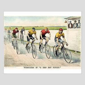 Wheelmen in a red hot finish - 1894 Small Poster