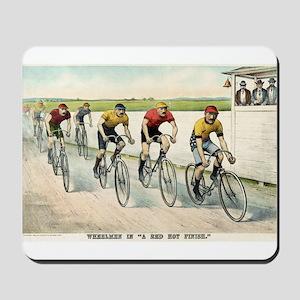 Wheelmen in a red hot finish - 1894 Mousepad
