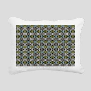 mod girly square damask Rectangular Canvas Pillow