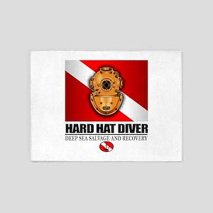 Hard Hat Diver 5'x7'Area Rug