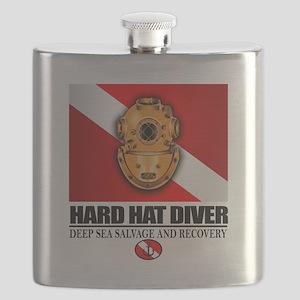 Hard Hat Diver Flask