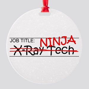 Job Ninja X-Ray Tech Round Ornament