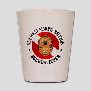 Key West Marine Salvage Shot Glass