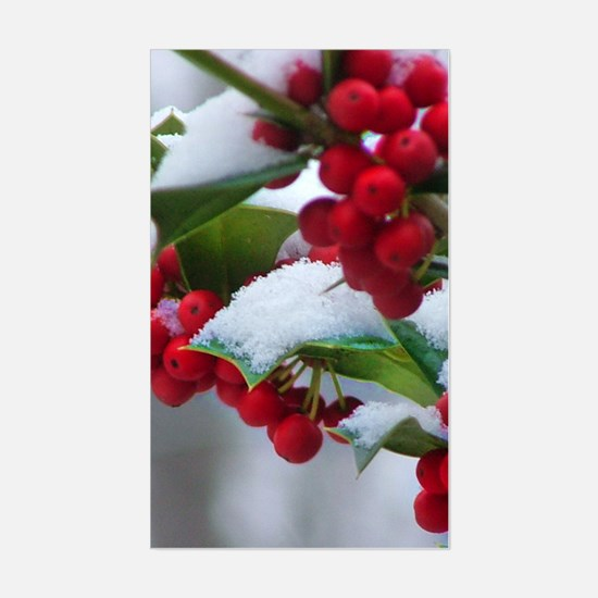 Christmas Berries Rectangle Decal