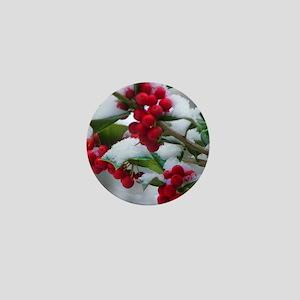 Christmas Berries Mini Button
