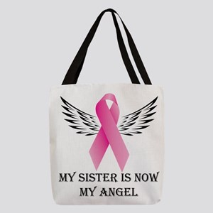 My Sister is now My Angel Polyester Tote Bag