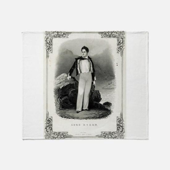 Lord Byron - 1840 Throw Blanket