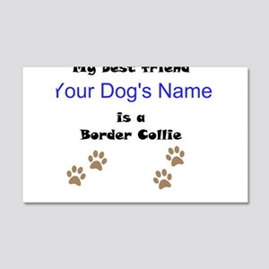 Custom Border Collie Best Friend Wall Decal