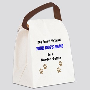Custom Border Collie Best Friend Canvas Lunch Bag