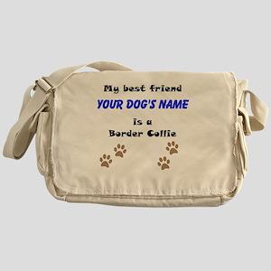 Custom Border Collie Best Friend Messenger Bag