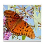 Beautiful Butterfly Print Tile Coaster