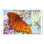 Beautiful Butterfly Print Rectangle Sticker