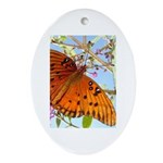 Beautiful Butterfly Print Oval Ornament
