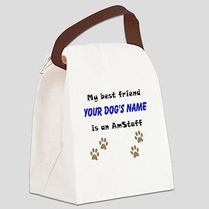 Custom AmStaff Best Friend Canvas Lunch Bag