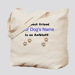 Custom AmStaff Best Friend Tote Bag