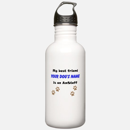 Custom AmStaff Best Friend Water Bottle