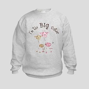 Big Sister Giraffes Sweatshirt