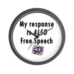 My Response is ALSO Free Speech Wall Clock