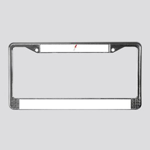 Red Rocket Space Ship License Plate Frame