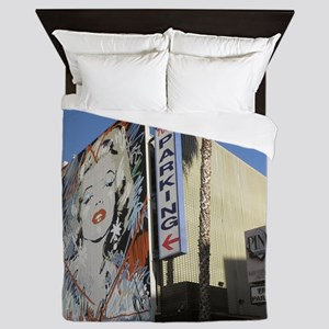 12x12 hooray4hollywood parking Queen Duvet