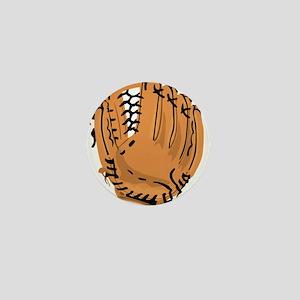Baseball Glove Mini Button