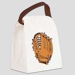Baseball Glove Canvas Lunch Bag