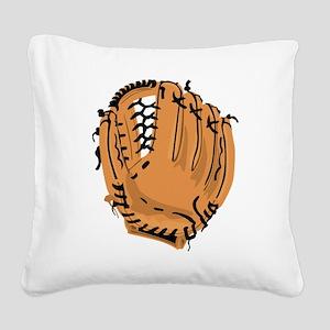 Baseball Glove Square Canvas Pillow