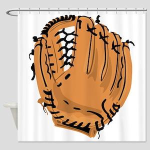 Baseball Glove Shower Curtain