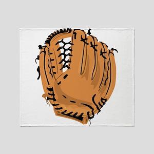 Baseball Glove Throw Blanket