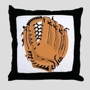 Baseball Glove Throw Pillow