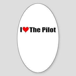 I Love the Pilot Oval Sticker