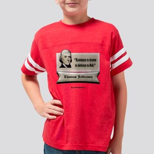 3-Jefferson resistance white  Youth Football Shirt