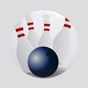 Bowling Ball and Pins Ornament (Round)