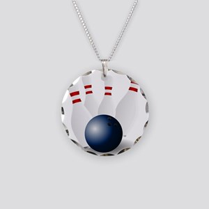 Bowling Ball and Pins Necklace