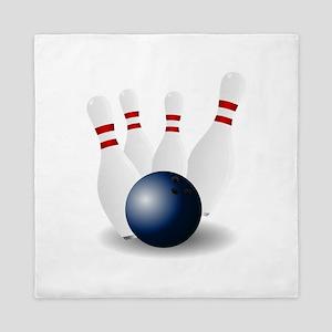 Bowling Ball and Pins Queen Duvet