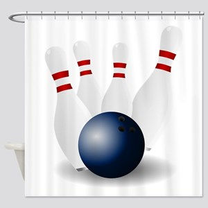 Bowling Ball and Pins Shower Curtain